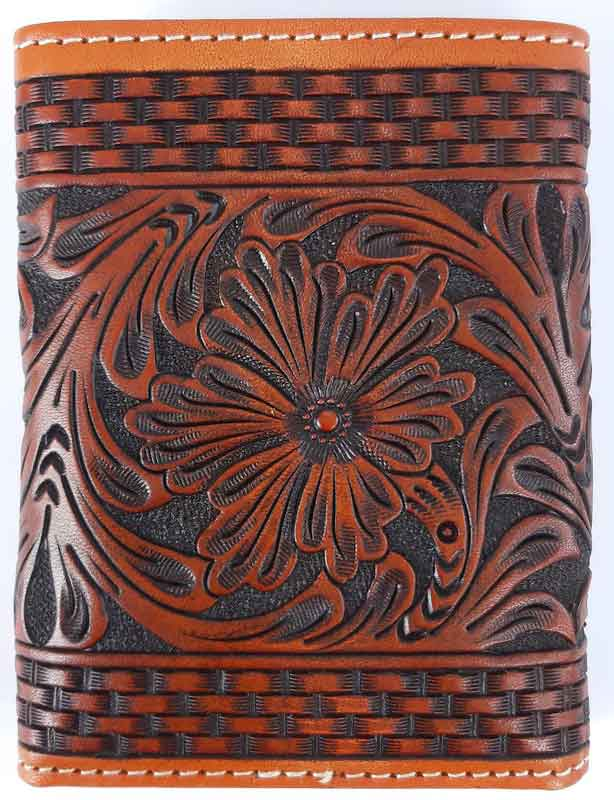 Carteira Couro Estampa Floral Importada Ranger Belt Company
