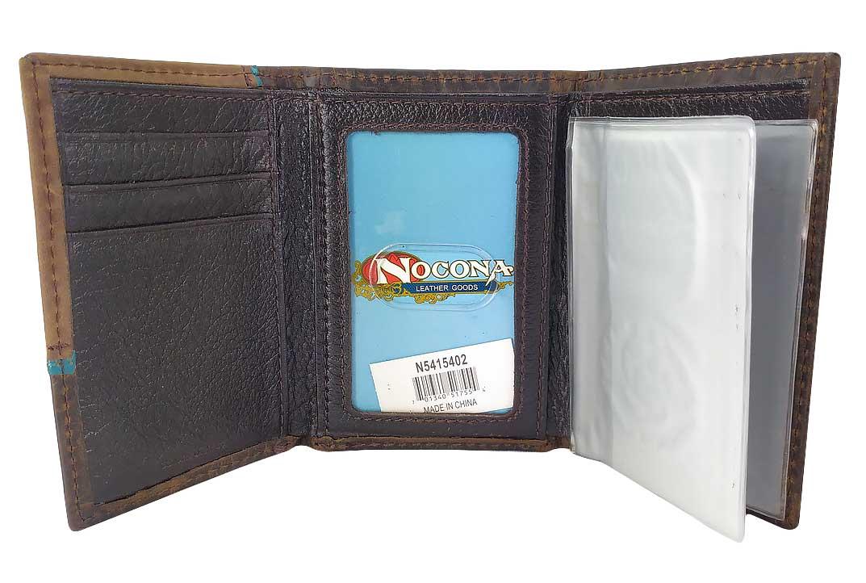 Carteira em Couro com Relevo Cruz Importada Nocona N5415402