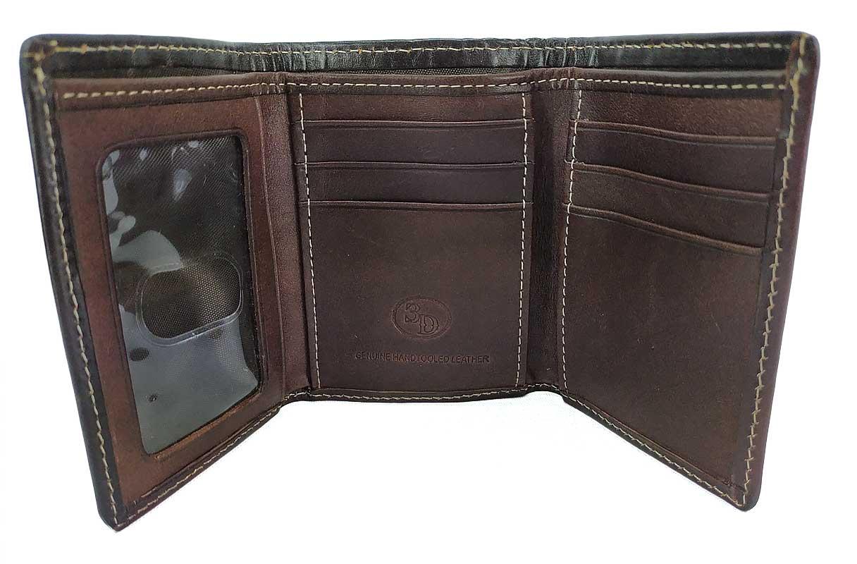 Carteira Masculina 3D Belt em Couro Trabalhado W246