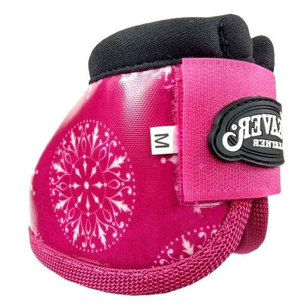 Cloche Weaver Leather em Plástico Rosa com Estampa