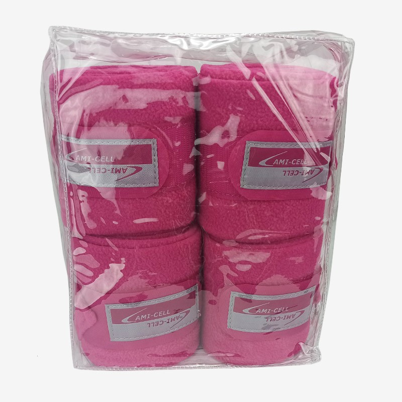Conjunto Liga Partrade para Pernas de Cavalo Rosa Escuro