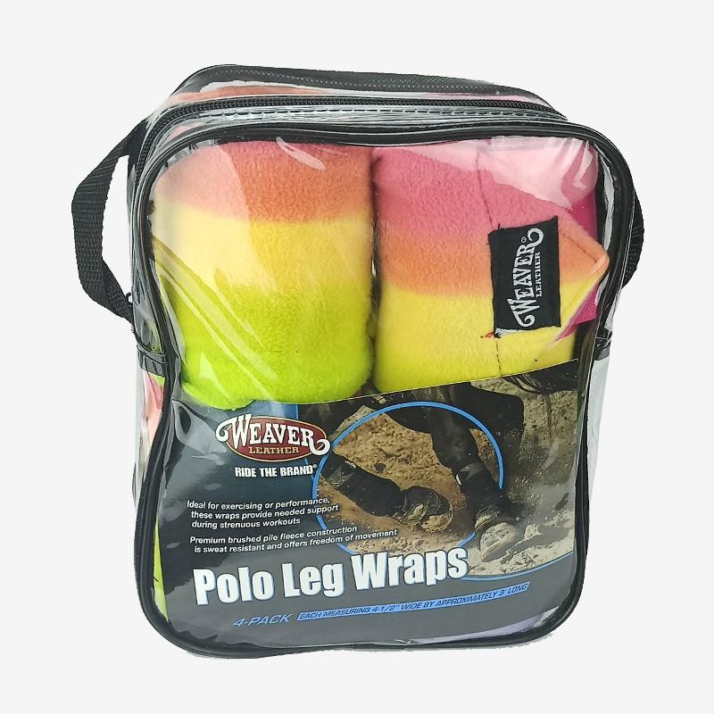 Conjunto Liga Weaver Leather Pernas de Cavalo Arco Iris