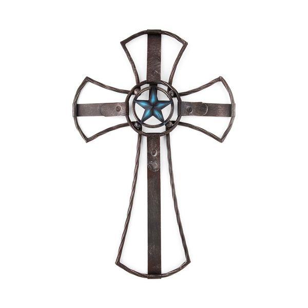 Cruz de Parede Decoração Metal Rústico Importada