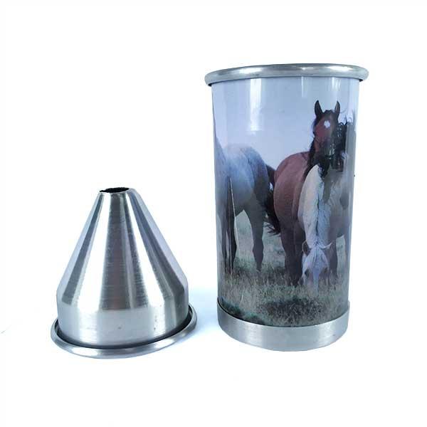 Cuspidor de Fumo Fast Back Alumínio Desenho de Cavalo