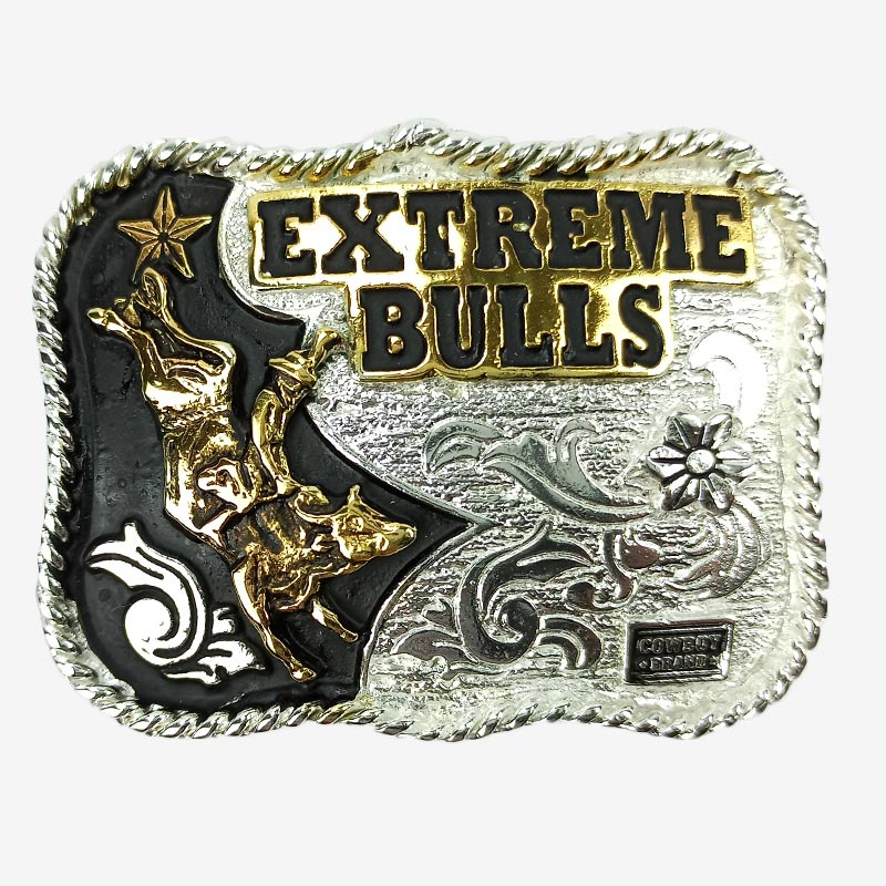Fivela Country Infantil Master Western Prata Estreme Bulls