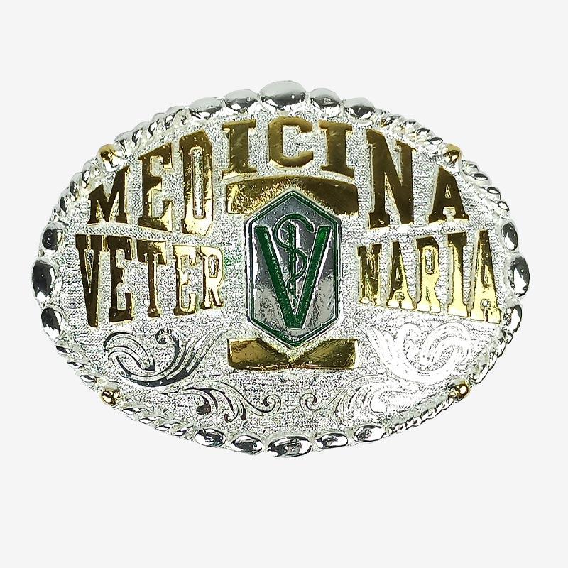 Fivela Country Masculina Master Western Prata Veterinária