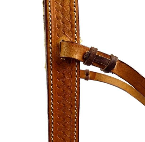 Gamarra para Cavalo Top Equine Couro Largo Forro de Algodão