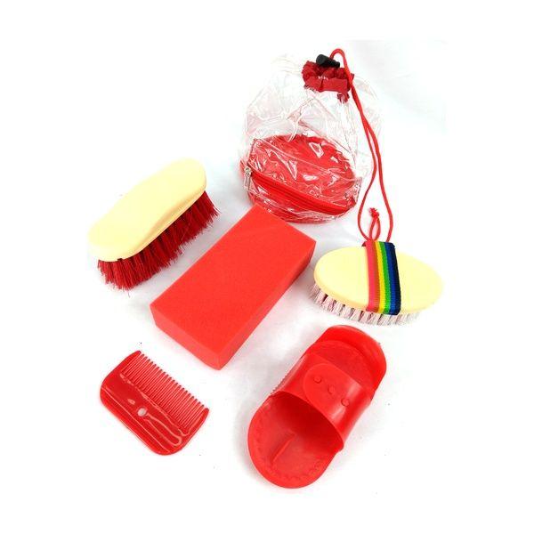 Kit de Higiene e Limpeza Partrade para Cavalo Vermelho