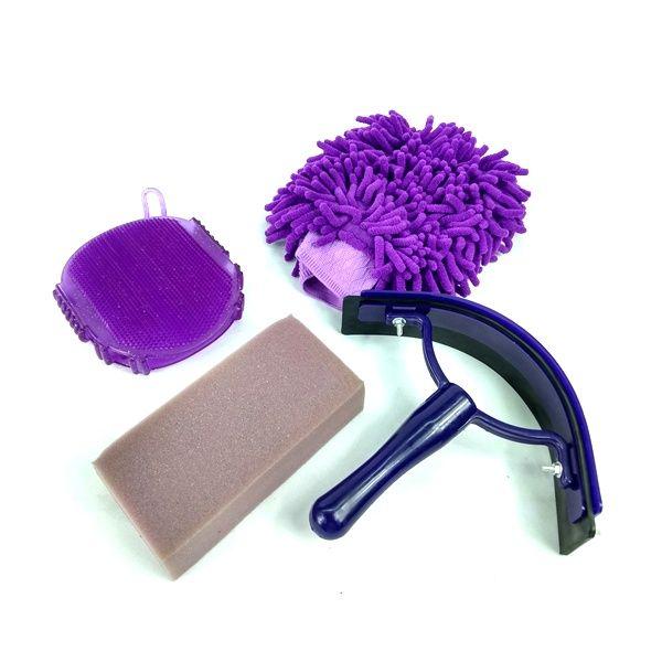 Kit Higiene para Cavalo Multicolor Roxo Importado Partrade