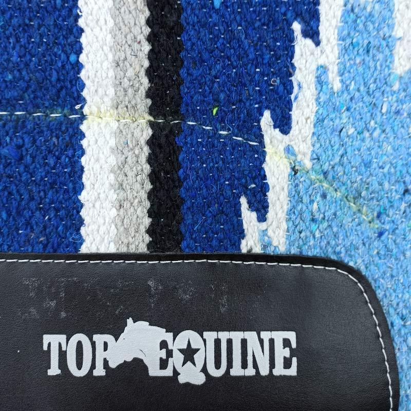 Manta para Cavalo Top Equine Azul Branco Cinza Preto Laço