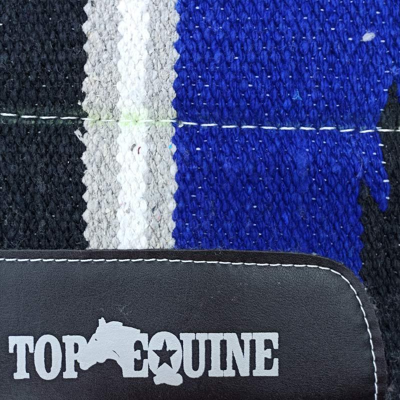 Manta para Cavalo Top Equine Azul Preto Cinza para Laço