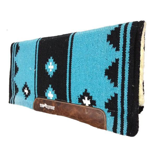 Manta para Cavalo Top Equine de Navajo Azul Preto para Laço