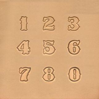 Numeral para Estampar Couro Tandy Leather 8135-00 Importado