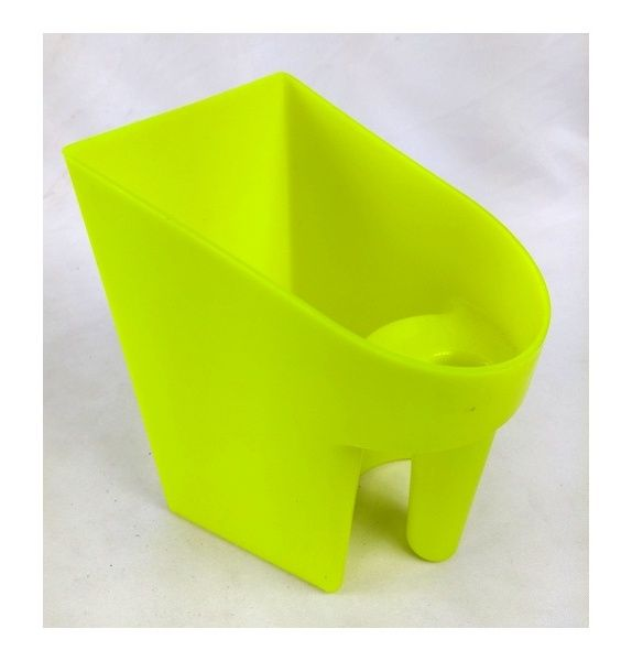 Pegador De Plastico Para Rações E Água Amarelo