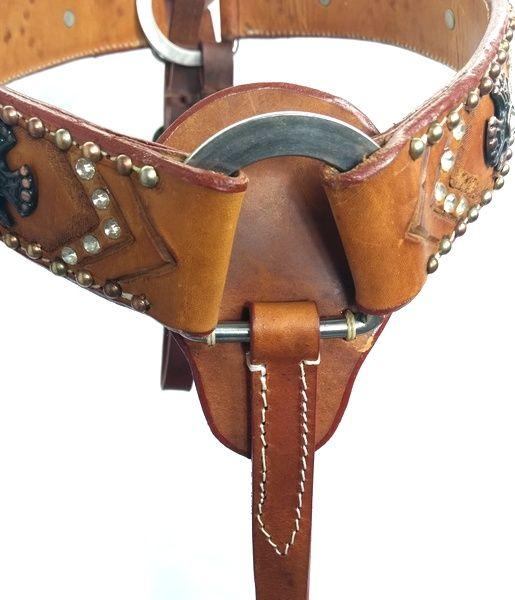 Peiteira para Cavalo Top Equine Couro Fino Strass e Cruzes
