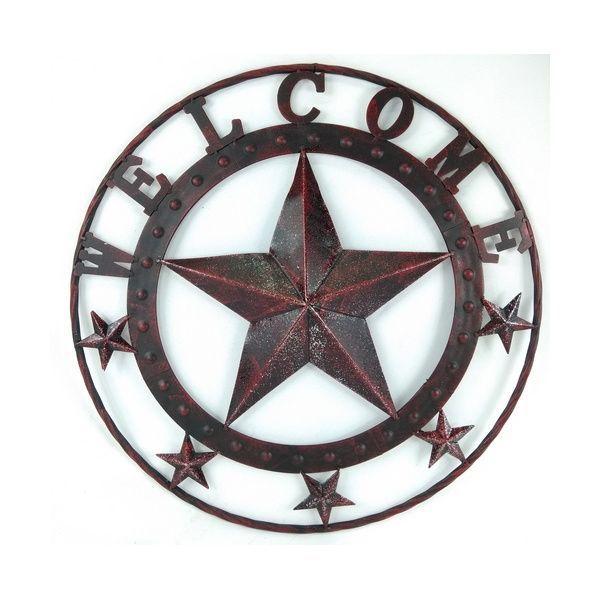 """Placa """"Welcome"""" em Metal para Decoração Western Importada"""