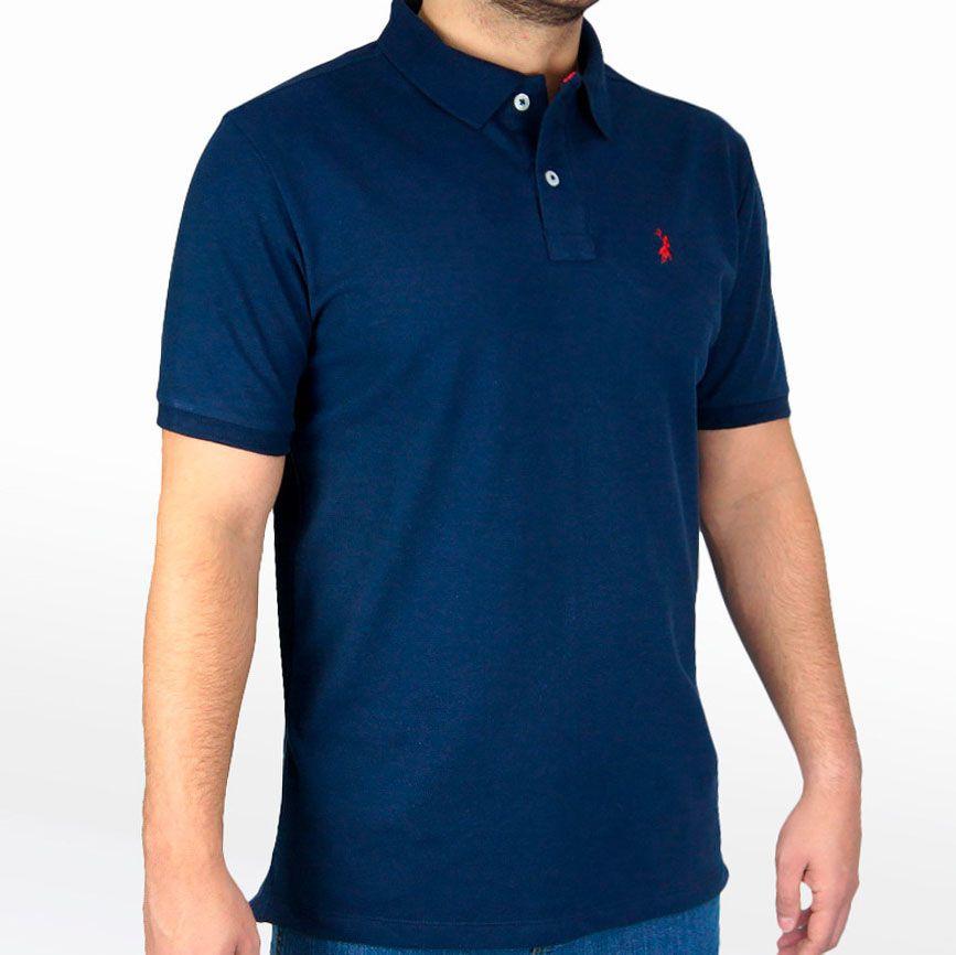 Polo Masculina Austin Western Original Shirts Azul Marinho