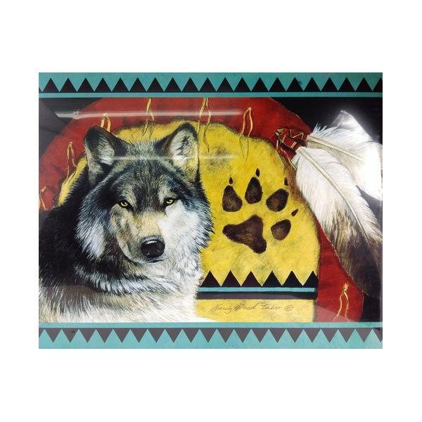 Pôster Western Quadro Decorativo Lobo Selvagem da Noite