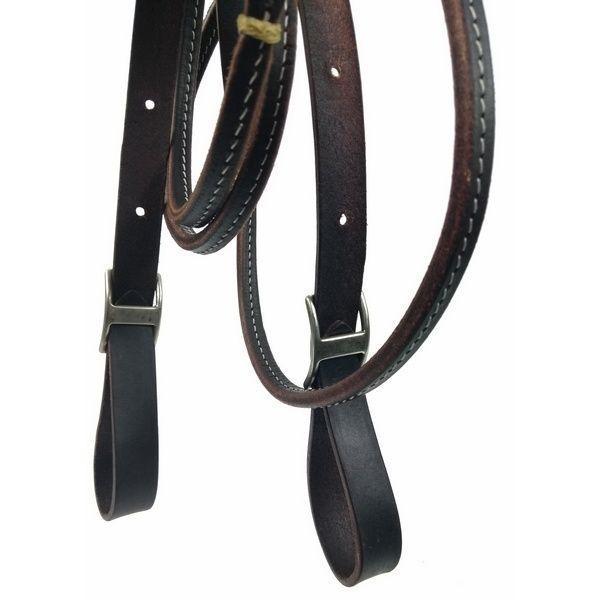 Rédea para Cavalo Top Equine Couro com 1/2 Curtume Preto