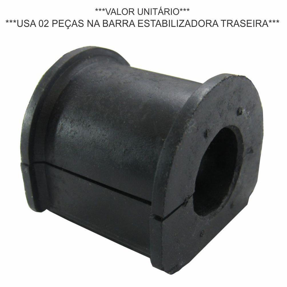 BUCHA BARRA ESTABILIZADORA TRASEIRA (QUADRADA CENTRAL) IVECO DAILY 2.8 8V 3510/4012/4910 1997 A 2005 8581021
