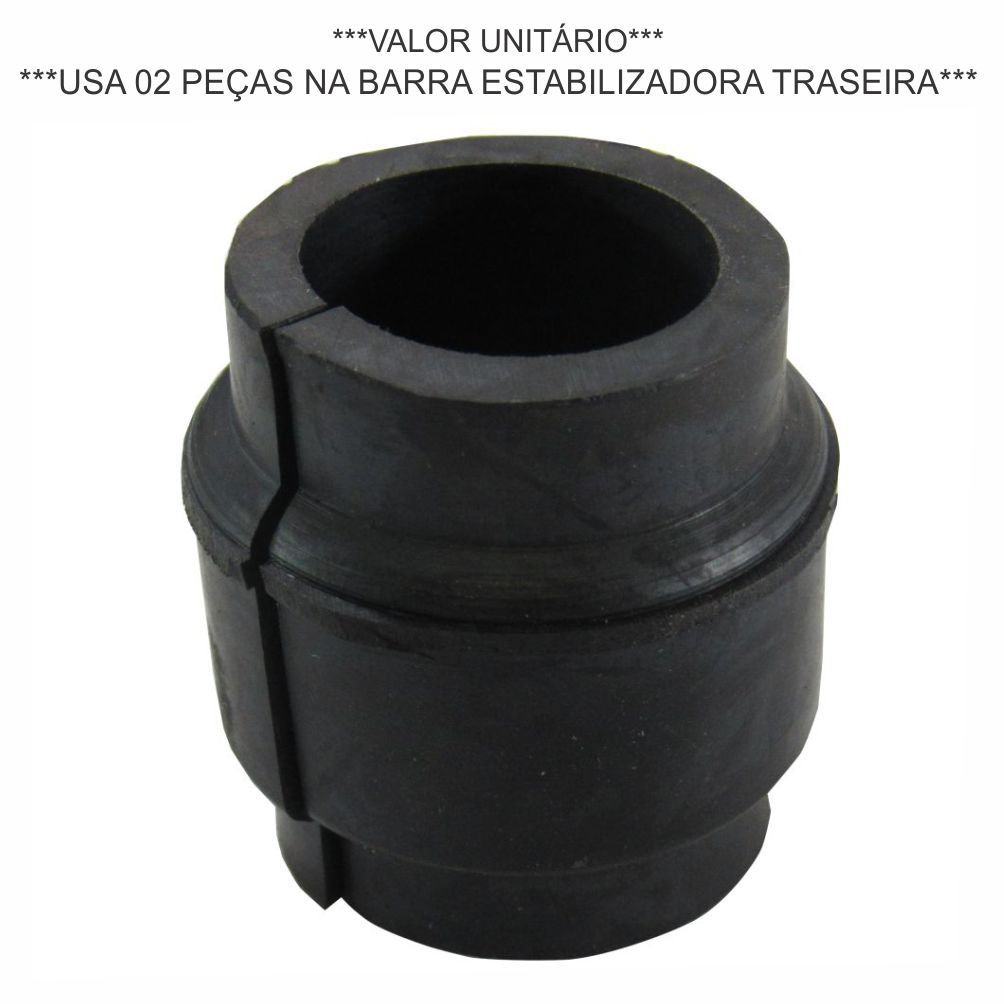 BUCHA BARRA ESTABILIZADORA TRASEIRA (REDONDA SUPERIOR PONTA) IVECO DAILY 2.8 8V 1997 A 2007/NOVA DAILY 3.0 APÓS 2008/DAILY MY APOS 2019 93801623