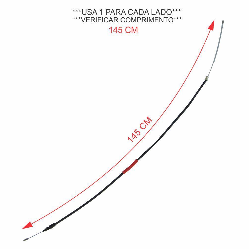 CABO FREIO MÃO *RODAS* 145 CM CHASSIS CURTO RENAULT MASTER 2.8 2002 A 2004/2.5 2005 A 2013 7700311217