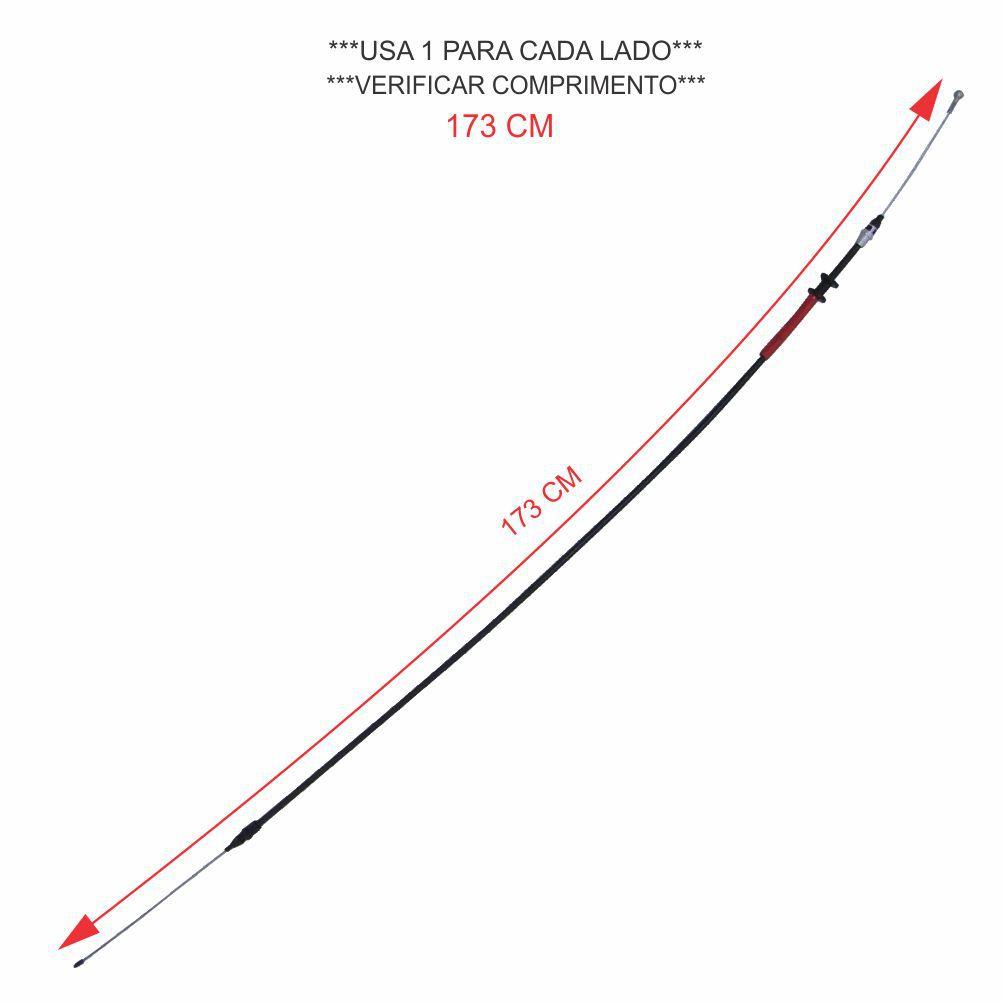 CABO FREIO MÃO ENTRE *RODAS* RENAULT NOVA MASTER 2.3 16V APÓS 2014 *CHASSIS LONGO 173 CM* 364007808R