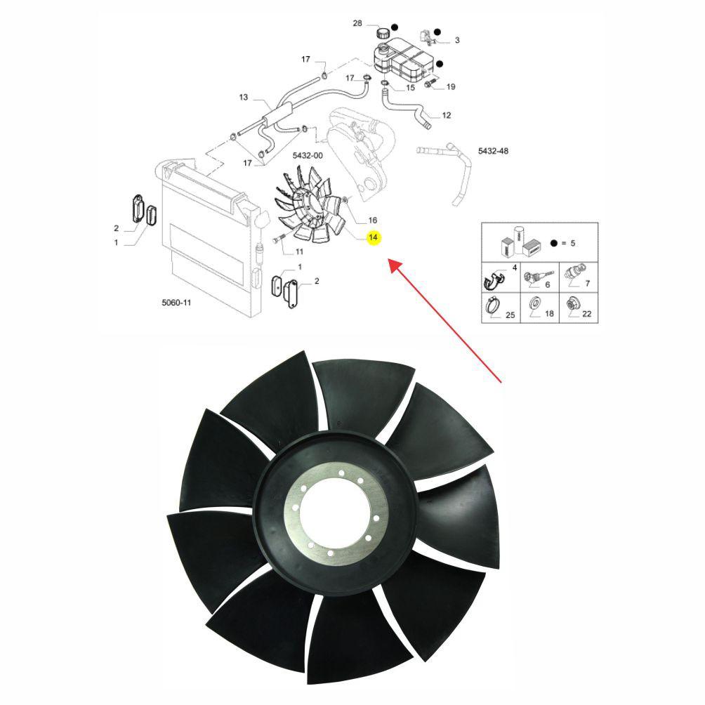 HÉLICE RADIADOR MOTOR NOVA DAILY 35S14/45S14/55C16/70C16 2008 A 2011 EURO 3 504154349