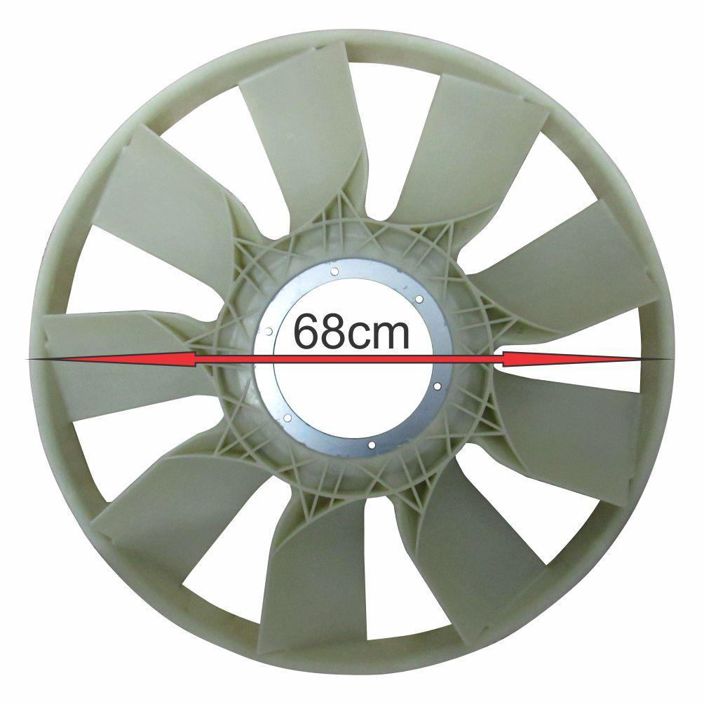 HÉLICE RADIADOR MOTOR NOVO STRALIS NR APÓS 2012 (EURO 5)/ NOVO TRAKKER ECOLINE APÓS 2012 (EURO 5) 504235059 D