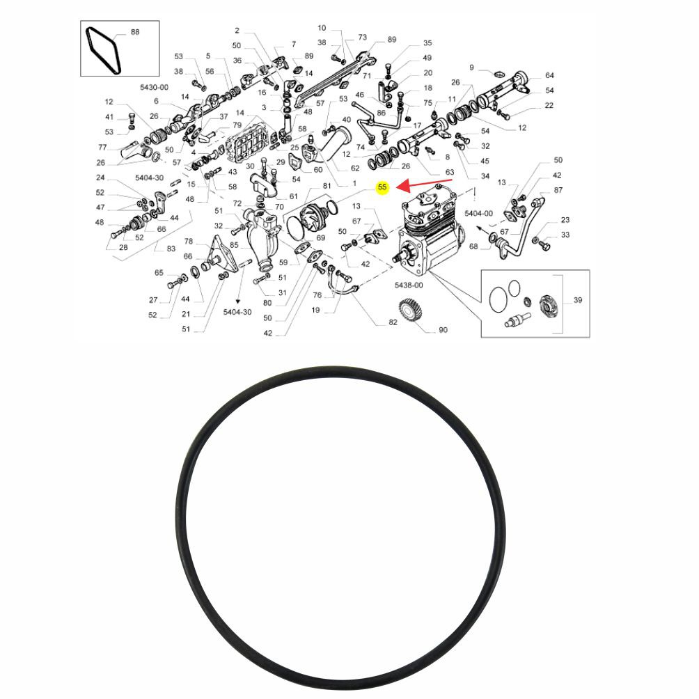 JUNTA ANEL VEDAÇÃO BOMBA ÁGUA MENOR MOTOR IVECO EUROTECH 370/420/440/EUROTRAKKER 370/420 17285281