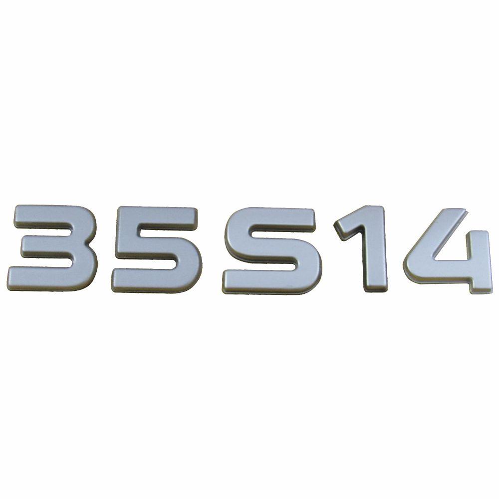 SIGLA EMBLEMA 35S14 LATERAL CROMADO DAILY 3.0 16V 35S14 2008 A 2011 EURO 3 93981437