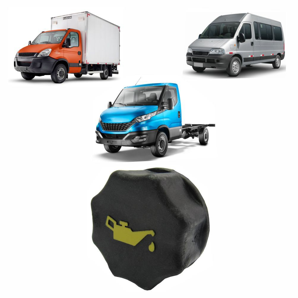 TAMPA OLEO MOTOR FIAT DUCATO 2.3 MULTIJET 2010 A 2017/PEUGEOT BOXER/CITROEN JUMPER 2.3 /IVECO DAILY 1997 A 2007/NOVA DAILY APOS 2008/DAILY MY/TECTOR 500301568