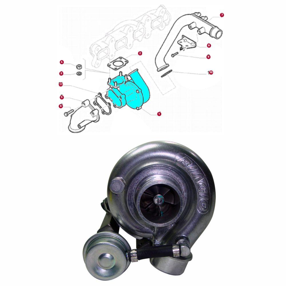 TURBINA MOTOR FIAT DUCATO 2.3 16V MULTIJET 2010 A 2017/ PEUGEOT BOXER 2.3 HDI 2010 A 2017/ CITROEN JUMPER 2.3 HDI 2010 A 2017 580145712 B