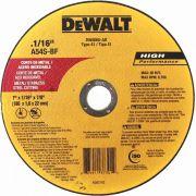 Disco de Corte Metal Inox 7 x 1/16 x 7/8 Pol. DW8065 Dewalt