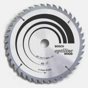 Disco de Serra Circular 7.1/4 Pol. Optiline Madeira 24 Dentes Bosch