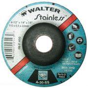 "Disco Desbaste Inox  4.1/2"" X 1/4"" X 7/8"" Walter"