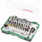 Jogo Bits para Aparafusar e Chave Catraca com 27 Peças Bosch