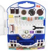 Kit 110 Peças Acessórios para Micro Retífica Dremel 709RW