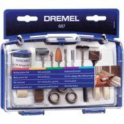 Kit 52 Peças para Uso Geral para Micro Retífica Dremel 687