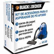 Kit de Acessórios VC30 para Aspirador AP3000 Black & Decker