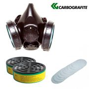 Mascara Respiratoria Cg-304n + 2 Filtro Rc1 + 10 Pré Filtro