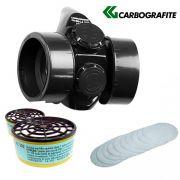 Mascara Respiratoria Cg-306 com 2 Filtros Rc 202 e 10 Pré Filtro