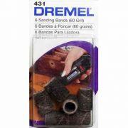 Tubo de Lixa 1/4 Pol (6,35mm) Grão 60 Dremel 431