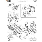 VISTA EXPLODIDA PEÇAS P/ CORTADOR DE GALHOS LP1000 B2 TIPO 1 - 220V