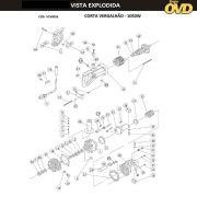 VISTA EXPLODIDA PEÇAS P/ CORTADOR VERGALHÃO DWT CV16 - 110V 220V