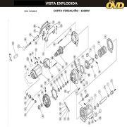 VISTA EXPLODIDA PEÇAS P/ CORTADOR VERGALHÃO DWT CV22 - 110V 220V