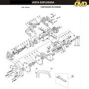 VISTA EXPLODIDA PEÇAS P/ CORTADORA DE PAREDE DWT WCB3125 - 110V 220V