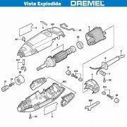 VISTA EXPLODIDA PEÇAS P/ DREMEL MICRO RETIFICA 3000 - F013300002 - 110V