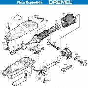 VISTA EXPLODIDA PEÇAS P/ DREMEL MICRO RETIFICA 300 - F013030002 - 110V