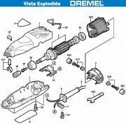 VISTA EXPLODIDA PEÇAS P/ DREMEL MICRO RETIFICA 300 - F013030050 - 220V